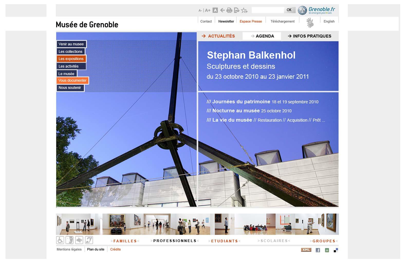 webdesign musée de Grenoble