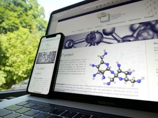 Création du site Internet WordPress  DIVI ERC EMC2 avec Sorbonne Université à Paris