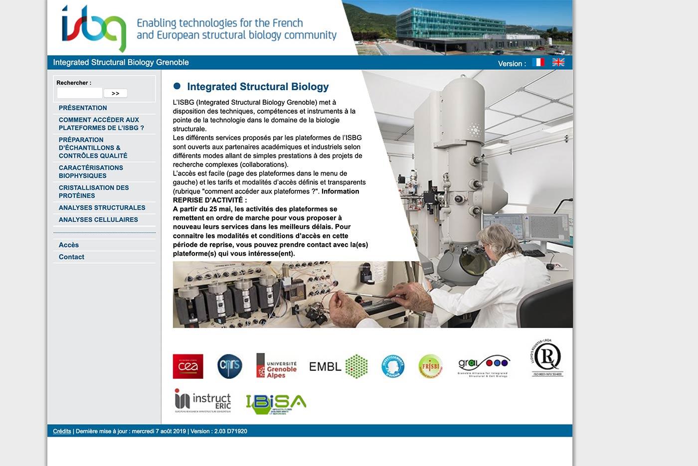 isbg webdesign grenoble scientifique