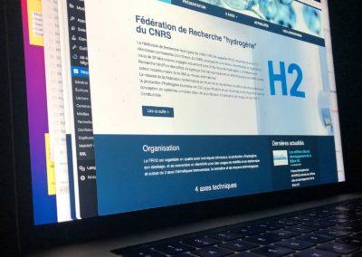 Création du site WordPress H2FR pour le CNRS avec Elementor