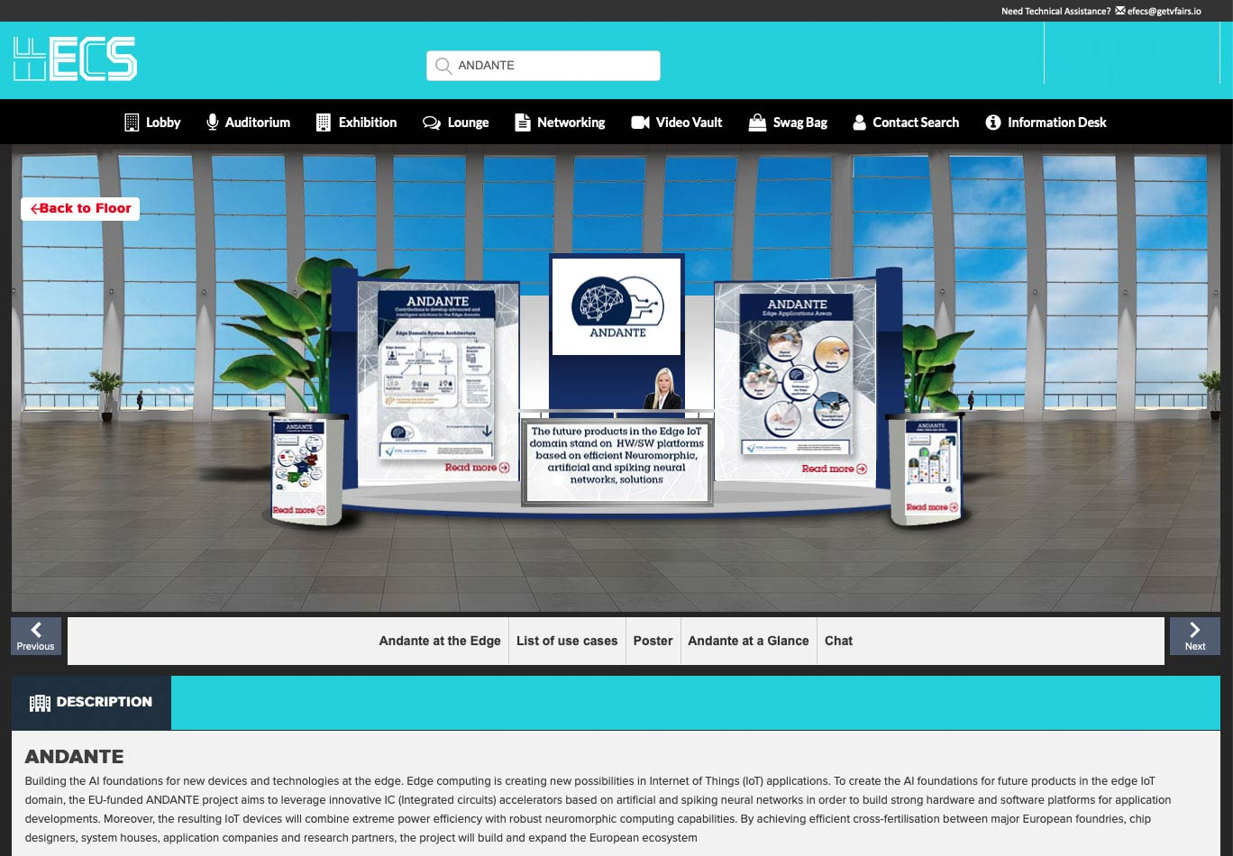 stand pour salon virtuel en ligne booth