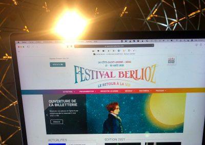 Réalisation du site web du Festival Berlioz -AIDA38 – Grenoble