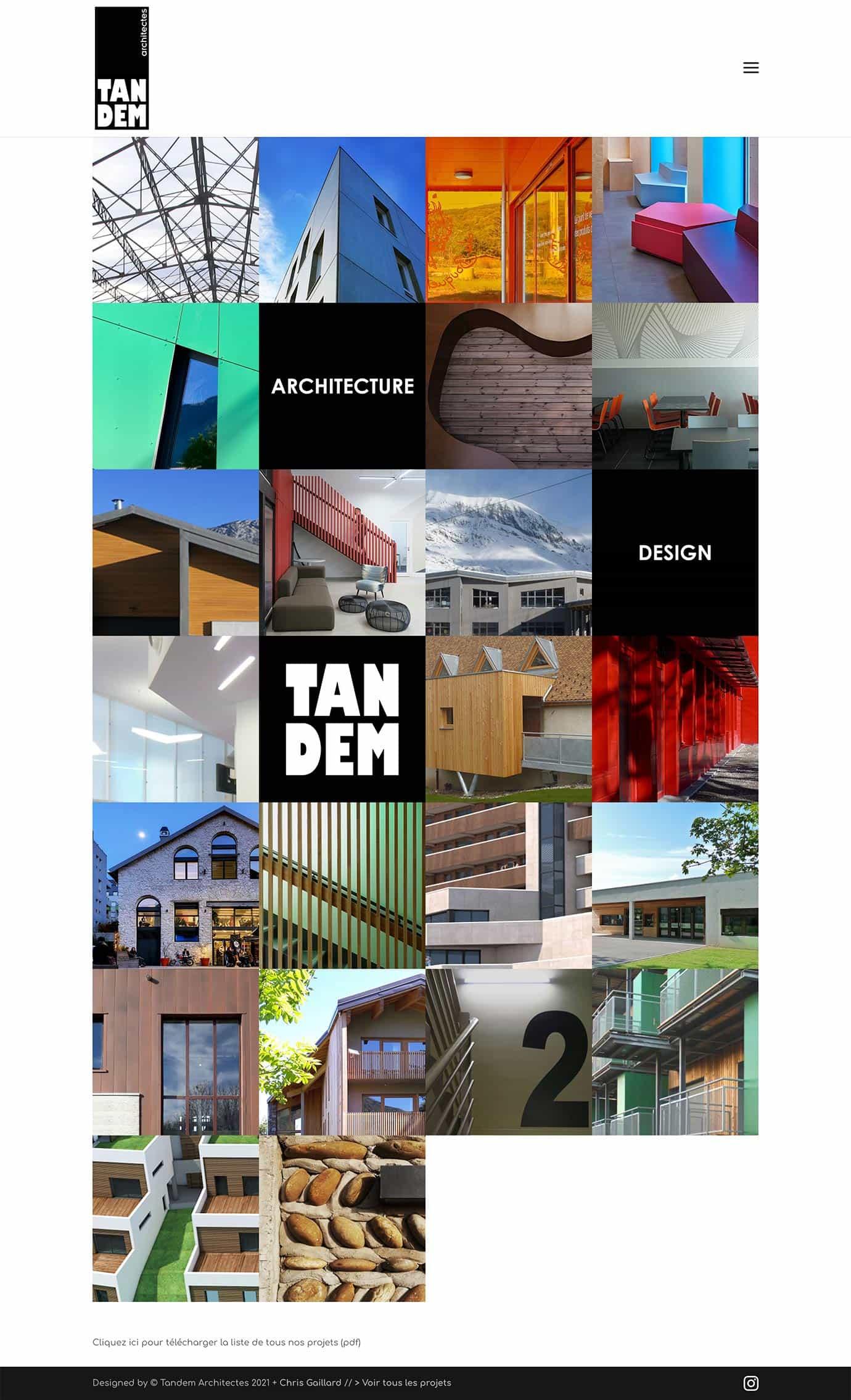 home page tandem architectes grenoble