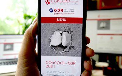Création du logo, charte et site Internet du GDR-COnCOrD pour le CNRS