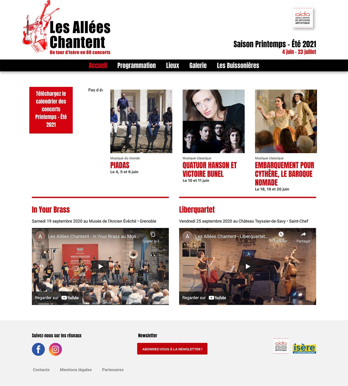 Création du site internet WordPress Elementor allées chantent Grenoble